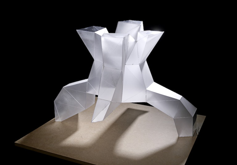 Image: Deichman Library Diagonale by Lund Hagem and Atelier Oslo lightshaft Model