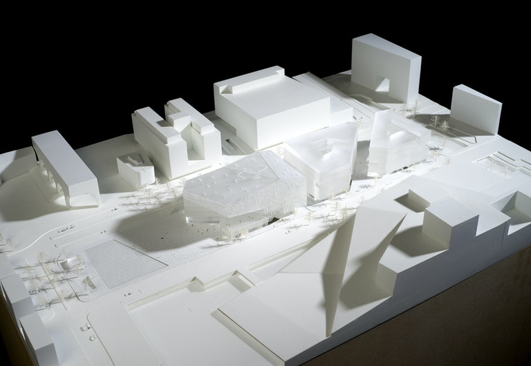 Image: Deichman Library Diagonale by Lund Hagem and Atelier Oslo site Model Overview